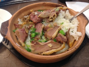 preserved duck rice casserole