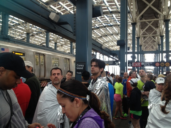 The scene at the Stillwell Ave station after the race.