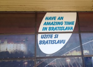 At the main Bratislava train station