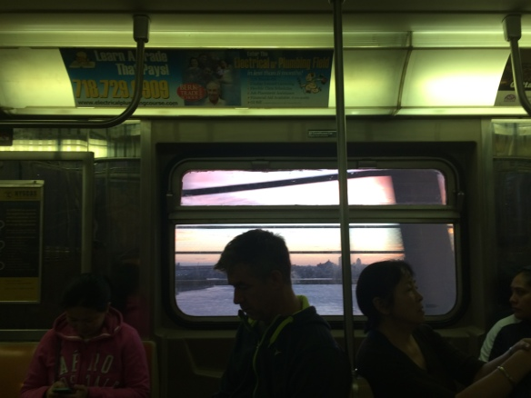 Early Sunday morning on the D train